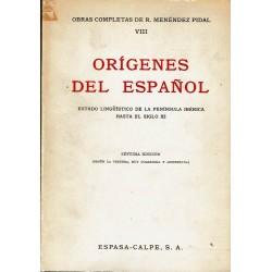 Orígenes del español. Estado lingüístico de la península ibérica hasta el siglo XI.