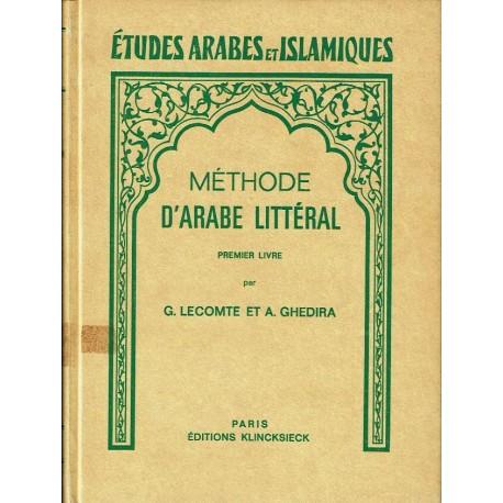 Méthode d'arabe littéral. Premier Livre.