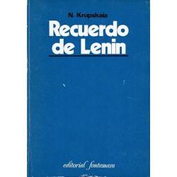Recuerdo de Lenin.