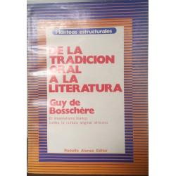De la tradición oral a la literatura. El imperialismo blanco contra la cultura original africana.