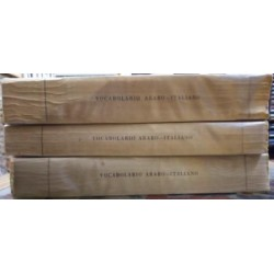 Vocabulario arabo - italiano. 3 vols.