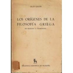 Los orígenes de la filosofía griega.