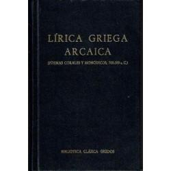 Lírica griega arcaica (poemas corales y monódicos, 700-300 a. C.).