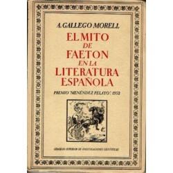El mito de Faetón en la literatura española.