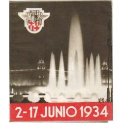 Folleto informativo de la feria de muestras de Barcelona de 1934.